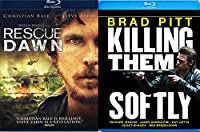 Killing Them Softly Blu Ray + Rescue Dawn 2 Pack Military Movie Action Next Mission Double Feature Set