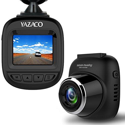 YAZACO超小型ドライブレコーダー 高画質1080P フルHD 1200万画素 1.5インチ140度広角 上書き録画 Gセンサー付き WDR常時録画 駐車監視 動き検知 日本語説明書付き 12ヵ月保証期間