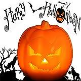 パンプキン ランタン ジャックオーランタン ジャックオランタン LED パンプキンライト ハロウィン 飾り ハロウィンイルミネーション Halloween パーティー 道具 電池式 無煙蝋燭 省エネ タイマー機能付き (かぼちゃA)