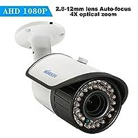 KKmoon 1080P AHD弾丸防犯監視カメラ 200万画素 防水仕様 1 / 2.8 '' CMOS 2.8-12mm自動フォーカスレンズ IRランプ42pcs/IR-CUT NTSCシステム