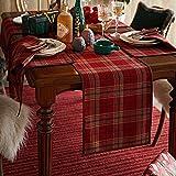 プレミアムウールフェルト製のテーブルランナー、クリスマステーブルデコレーションのための赤い長方形 (Size : 33*290cm)