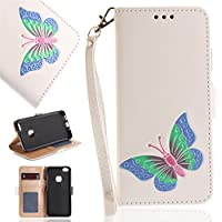 Huawei P10 Lite Folio Cover, Phoebe 保護シェル ポーチ Bumper Shell for Phoebe White