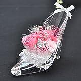プリザーブドフラワー 花花 シンデレラ ガラスの靴 お祝い プチギフト プレゼント ギフト 枯れないお花 (プリンセス ピンク)