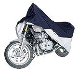 バイクカバー 高品質300D オックス Ohuhu バイク車体カバー 丈夫 防水 防塵 耐熱 UVカット 風飛び防止 収納袋付き