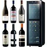 【お酒ストア5周年記念セット】ガヤ バルバレスコ・サッシカイア トスカーナ入り 高級イタリアワイン6本とさくら製作所低温冷蔵ワインセラー 38本収納セット