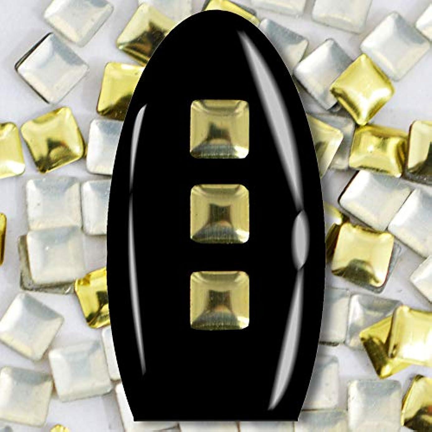 ペチュランスについてローマ人メタルスタッズ ネイル用 50粒 STZ019A スクエア ライトゴールド 3mm