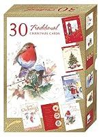 Chrismasカード–Traditionalボックスセット–30カード&封筒