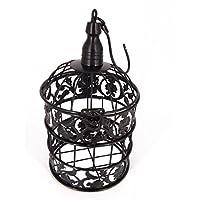 [ローアスポス] アンティーク 風 鳥かご 鳥 籠 オブジェ ウォール ディスプレイ 造花 ケージ (ブラック)