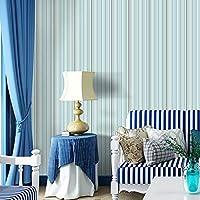YUYAX 壁紙自己接着ウォールステッカー現代のミニマリスト用ルームテレビソファ背景家具キッチンキャビネット棚食器棚装飾防水, blue, 40*300cm