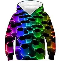 Boys Girls Hooded Sweatshirt Long Sleeve Casual 3D Pullover Hoodie with Pocket 6-16 Years