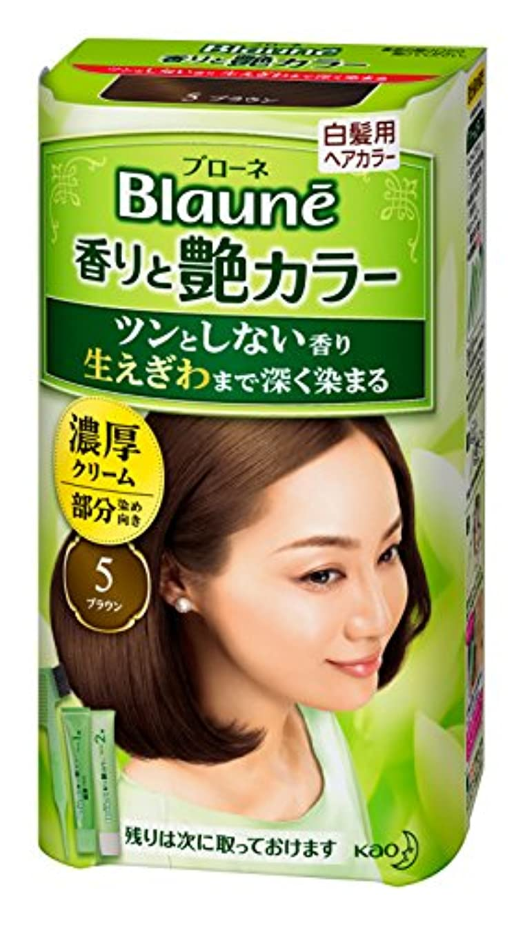 不十分な気性平和的ブローネ 香りと艶カラークリーム 5 80g [医薬部外品]