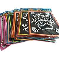 20個/ロット139.5 CM 2インマジックカラースクラッチアートペーパーカラーリングカードScraping図面Toys for Children