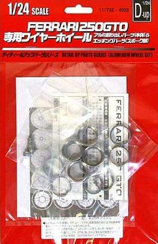 1/20 ディティールアップパーツシリーズ フェラーリ250GTO アルミ削り出しホイール
