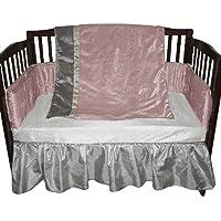 ベビードール寝具クロコダイルベビーベッド寝具セット、ピンク