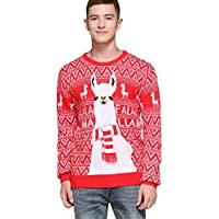 *daisyboutique* Men's Christmas Rudolph Reindeer Santa Holiday Knitted Sweater Cardigan Ugly Pullover