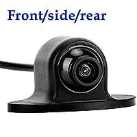 OBEST ミニバックカメラ 360度回転 高画質 CCDリアカメラ 車載用フロント/バックカメラ兼用 リアカメラ 角型/角度調整タイプ 正像・鏡像切替 ガイドライン有・無切替 170度広角レンズ 防塵 防水IP68 前後カメラ 車載カメラ 12V