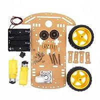 Arduinoのためのモーター速度のエンコーダーそして電池箱の電子部品が付いている車のシャーシのキットDIY車のロボット