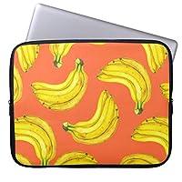 Recaso(レカソ)バナナ 水彩画 ラップトップスリーブ おしゃれ 12.6/12.8/13/13.3インチ PCケース パソコンケース パソコンカバー ラップトップスリーブ ノートパソコン