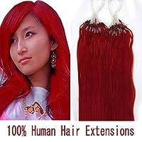 FidgetGear 7Aの実質のRemyの人間の毛髪延長マイクロチューブループマイクロリングビーズ16-26inch 赤