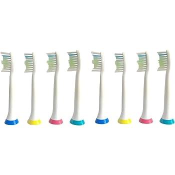 (互換品) フィリップス 電動歯ブラシ用 替ブラシ 4本×2セット=8本 (ソニッケアー ダイヤモンドクリーン 対応 スタンダード HX6064)