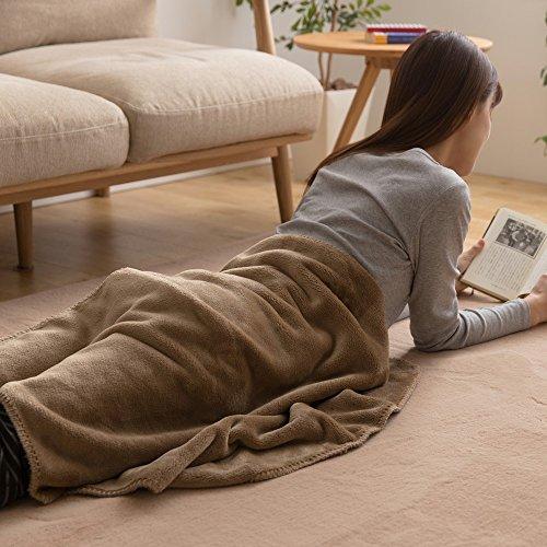ひざ掛け 毛布 mofua ブランケット プレミアムマイクロファイバー とろけるような肌触り 静電気防止 軽量 洗える 高密度 品質保証書付き ハーフ 100×70cm モカベージュ