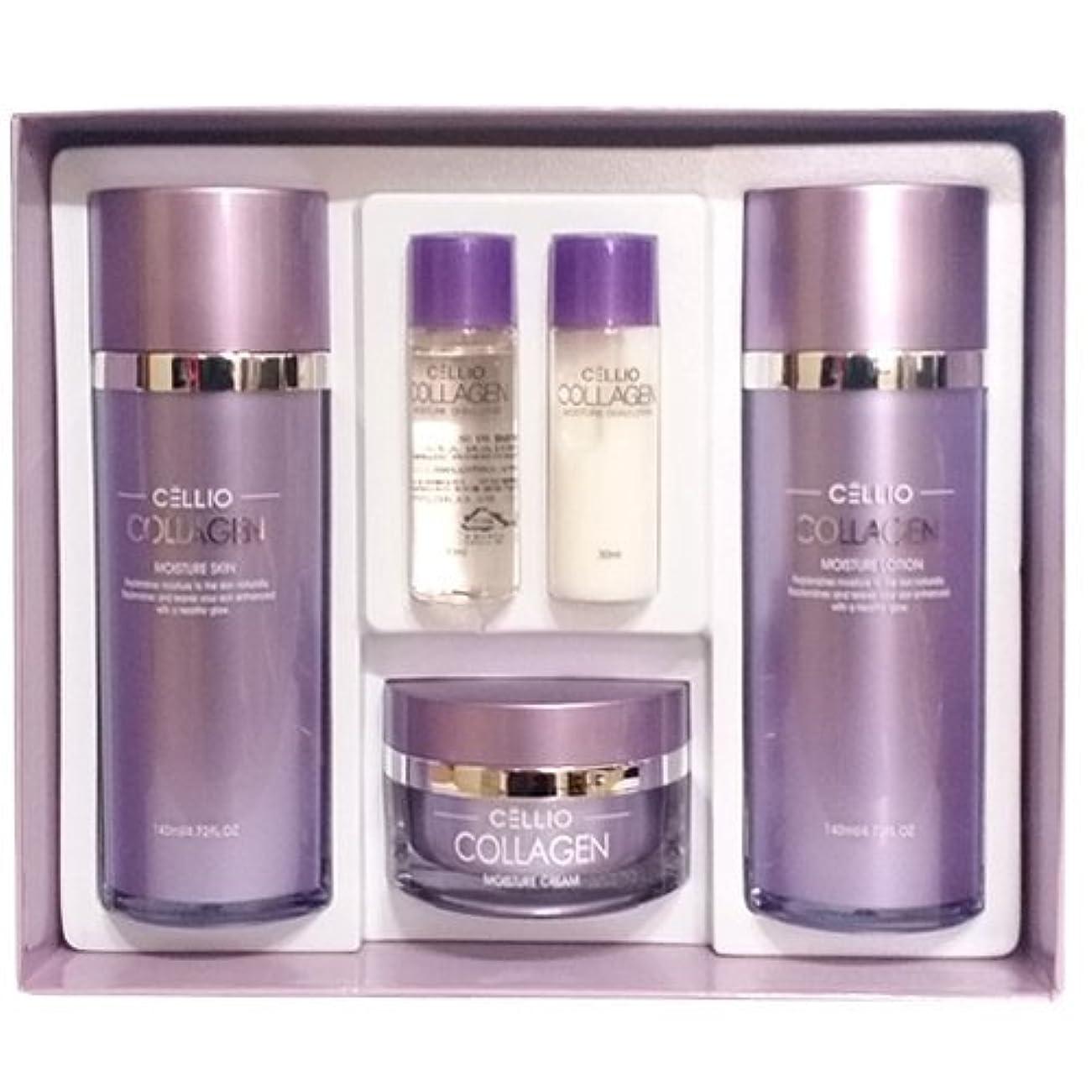 セルリオ[韓国コスメCELLIO]Collagen Moisture Skin Careコラーゲンモイスチャースキンケア3セット,樹液,乳液,クリーム [並行輸入品]