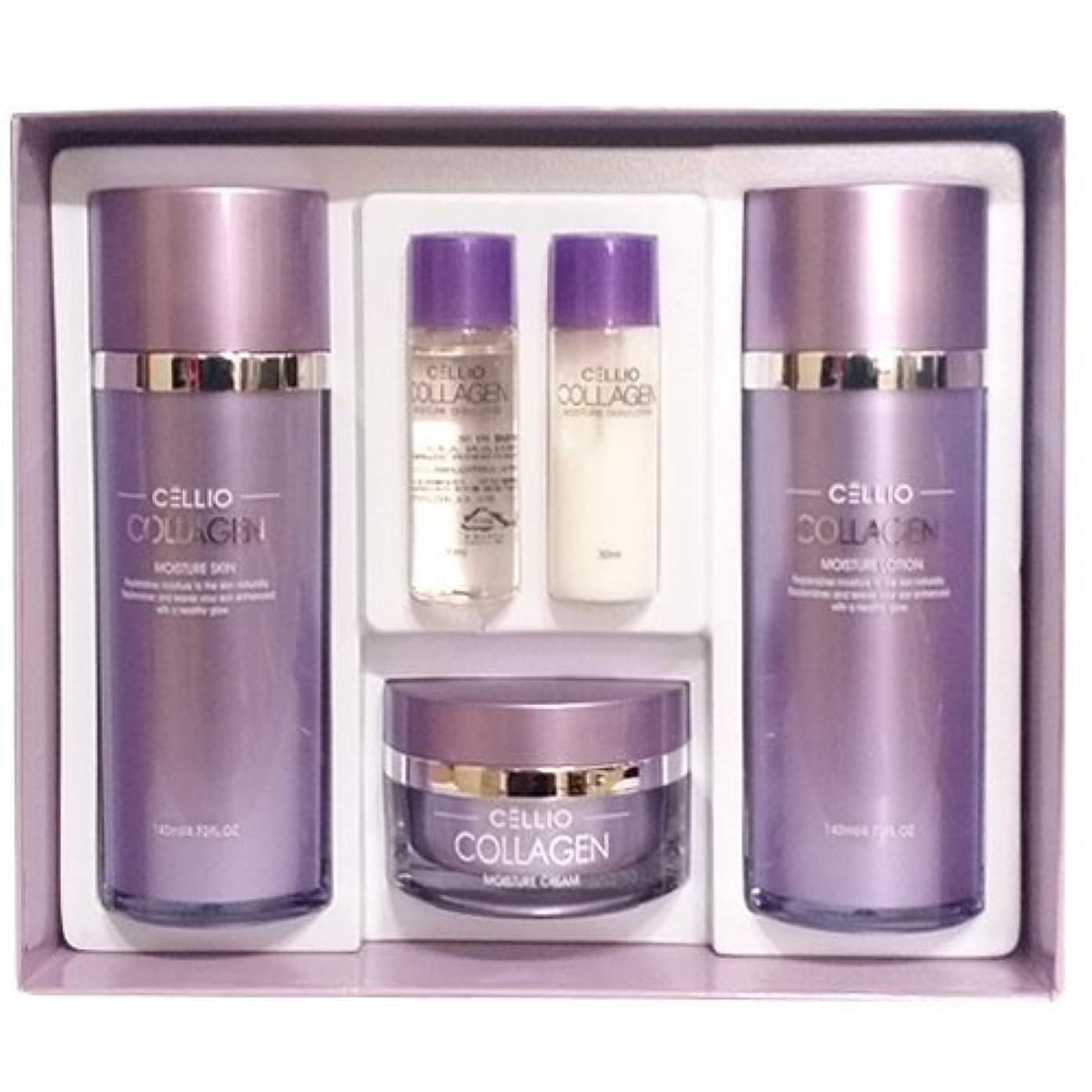 上級ボウル一部セルリオ[韓国コスメCELLIO]Collagen Moisture Skin Careコラーゲンモイスチャースキンケア3セット,樹液,乳液,クリーム [並行輸入品]