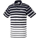 (アディダスゴルフ)adidas Golf グラデーションストライプ ショートスリーブシャツ CCM36 N67713 ネイビー L