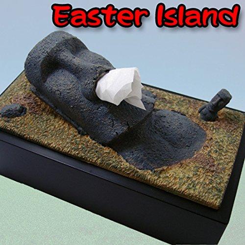 おもしろティッシュケース イースター島のモアイ...