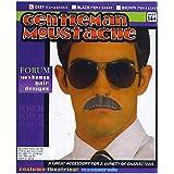 Gentleman Moustache Human Hair Grey (並行輸入品)