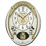 SEIKO CLOCK (セイコークロック) 掛け時計 ミッキーマウス ミニーマウス 電波 アナログ 5曲メロディ 飾り振り子 ミッキー&フレンズ Disney Time(ディズニータイム) 白パール FW567W