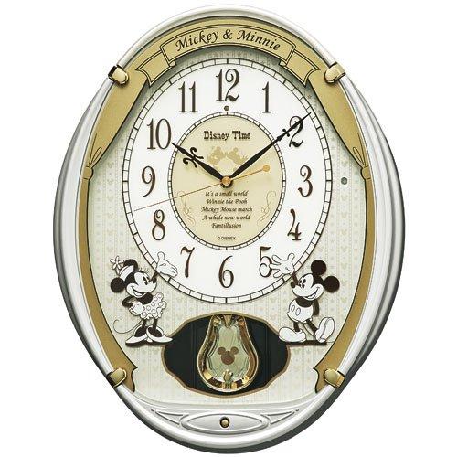 SEIKO CLOCK(セイコークロック) Disney (ディズニータイム) 掛け時計 ミッキー&フレンズ ミッキーマウス ミニーマウス 電波時計 ツイン・パ FW567W