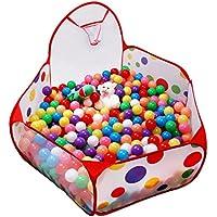 (イークスン) EocuSun 子供用 ボールプール 折り畳み式 おもちゃ箱 ファンボール 知育玩具 バスケットネット付き 収納バッグ付き(M)