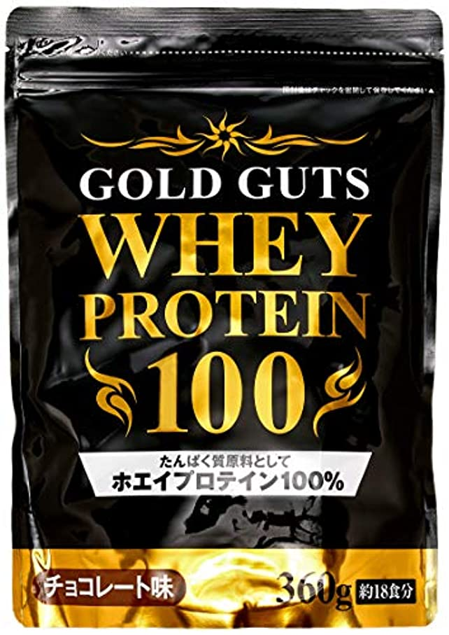 ジャンプする更新する近傍GOLD GUTS ゴールドガッツホエイプロテイン100 チョコレート味 360g