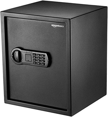 Amazonベーシック 金庫 家庭用 テンキー式 43L 35×33×42cm ブラック