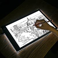 Kohree A4 LED Tracing Light Box Dimmable Tracer Portable Artists Drawing Board USB Power Cable Artcraft Tracing Light Pad for Sketching Animation Designing Stencilling X-ray Viewing