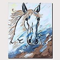 """油絵キャンバス壁アート100%手描き马抽象現代抽象油絵現代装飾アート家の装飾,28""""*44""""(70*110cm)"""