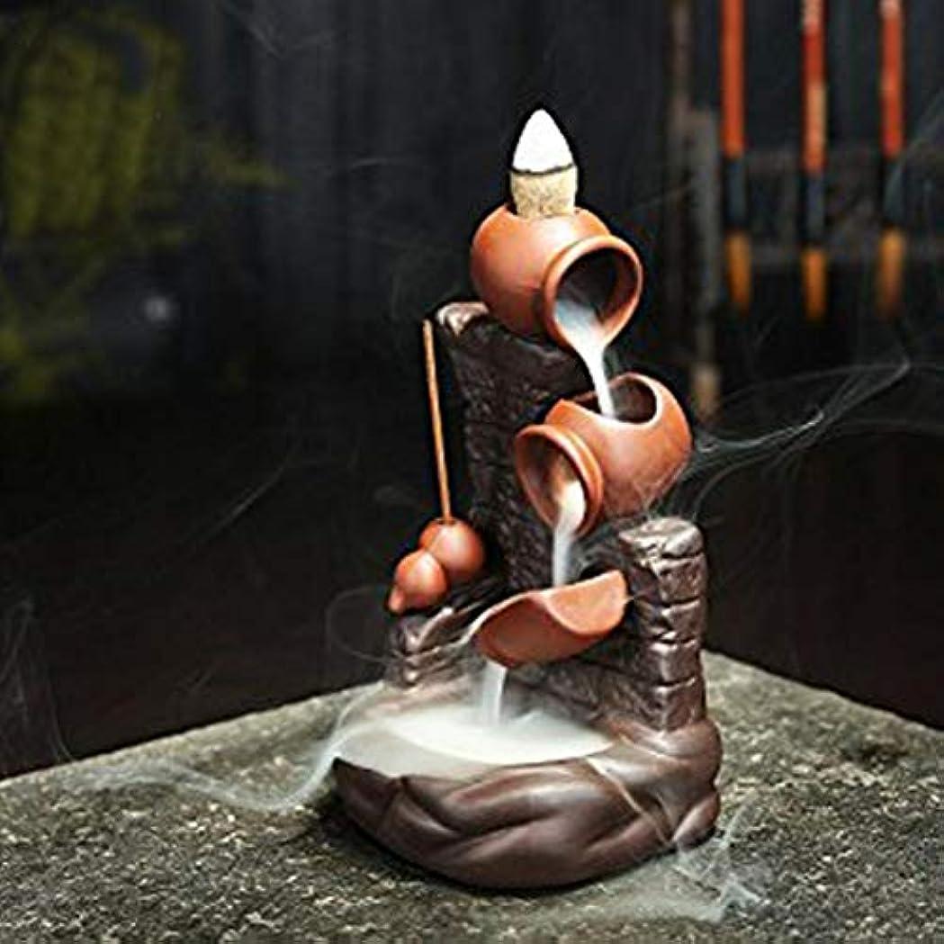 ホバートインタラクション石紫砂煙逆流香バーナーポットポットウォールセンサースティック香ホルダークリエイティブホームデコレーション