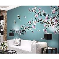 Wuyyii 3D壁紙布カスタム写真手描きの花と鳥の新しい中国の背景の壁の部屋の家の壁紙3Dの壁