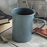 ホーロー雑貨 アンプリュス マグカップ グレイ トール 北欧雑貨 カントリー雑貨 (グレイ)