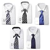 ワイシャツ5枚&ネクタイ5本セット シャツサイズL SETNo.5