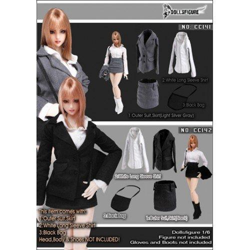 Set of dolls PVC figure 1 / 6 PVC figure for costume female Secretary black [DOLLSFIGURE CC142]