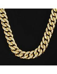 喜平ネックレス 14K マイアミキューバン チェーン ゴールド ネックレス メンズ 15mm 70cm PROPRE