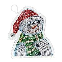 DIYの特別な形のダイヤモンド塗装雪だるま財布刺繍小銭入れ SonamDws