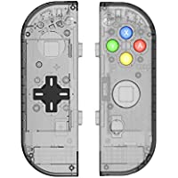Myriann 任天堂 Nintendo Switch ニンテンドー カラー置換ケース 代わりケース 外殻 ついに登場! (ブラック+)