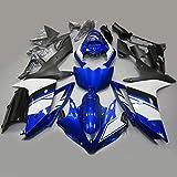 【PGMARO】バイク パーツ カウル ヤマハ YAMAHA 外装パーツセット 外装セット For Yamaha YZF R1 2007 2008 ブルー