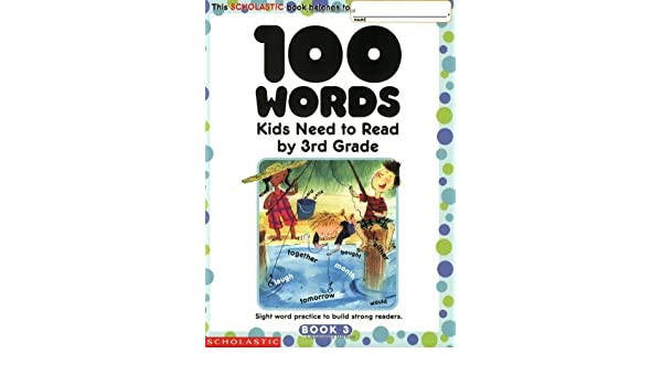 amazon 100 words kids need to read by 3rd grade sight word