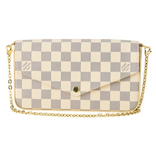 ルイヴィトン(Louis Vuitton) ショルダーバッグ N63106 ダミエ・アズール オフホワイト/ピンク [並行輸入品]