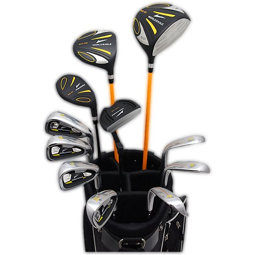 World Eagle 5Z mens Golf Club set black F black bag Ver... For the right Flex S WE-5Z-BK-S-FBK