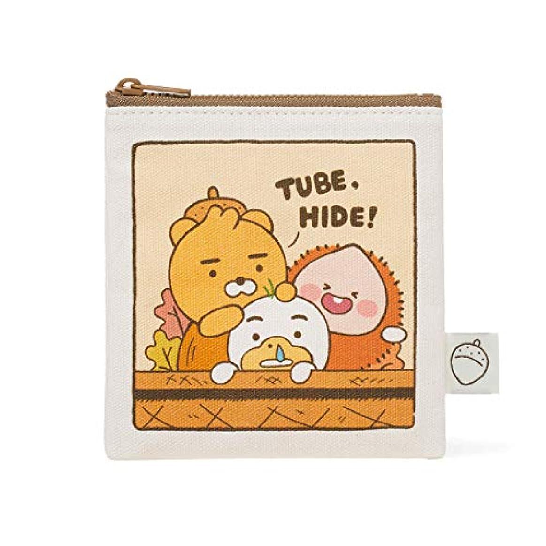 セグメントインレイ見かけ上[オフィシャル] カカオフレンズ - オータムストーリー ミニポーチ KAKAO FRIENDS - Autumn Story Mini Pouch (Ryan)